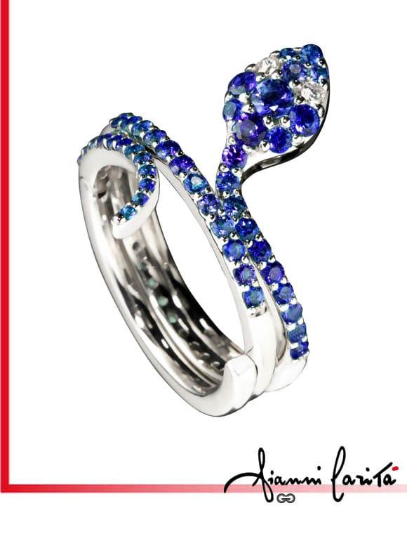Anello a serpente con diamanti e zaffiri gioielli caruso - Serpente collegare i punti ...
