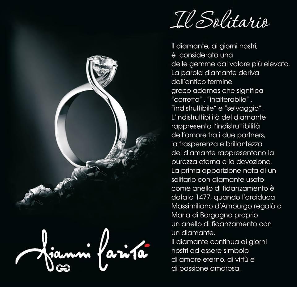 Anello a solitario modello valentino | Gioielleria Caruso
