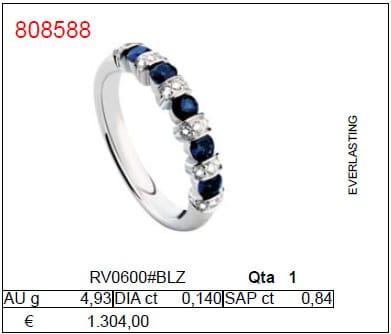 Anello con Diamanti e Zaffiri | Gioielleria Caruso