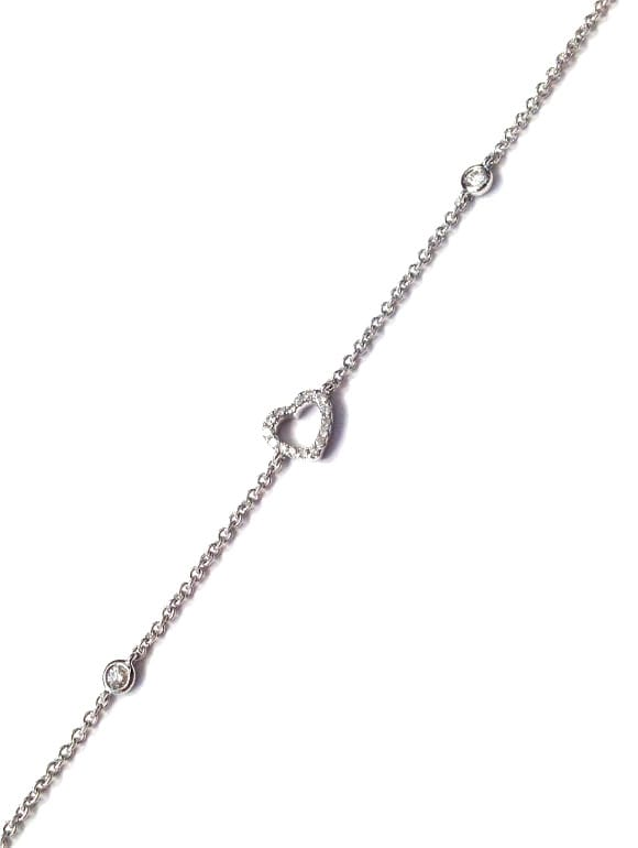 Bracciale Jovane a cuore con diamanti | Gioielleria Caruso