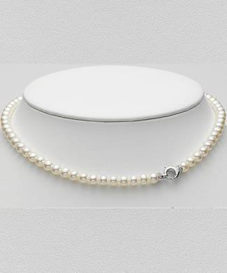 Collana con perle e diamante | Gioielleria Caruso