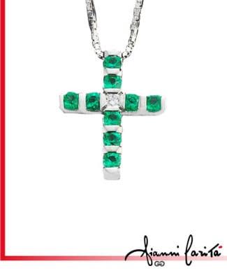 Croce con smeraldi | Gioielleria Caruso