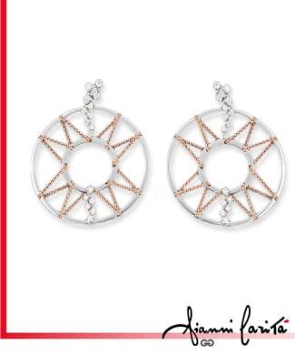 Orecchini Chain con diamanti | Gioielleria Caruso