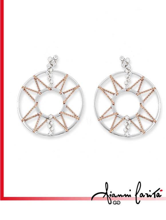 Orecchini Chain con diamanti   Gioielleria Caruso