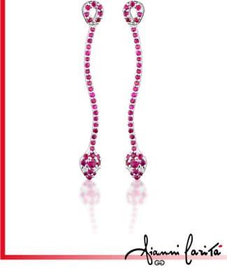 Orecchini a serpente con diamanti e Rubini | Gioielleria Caruso