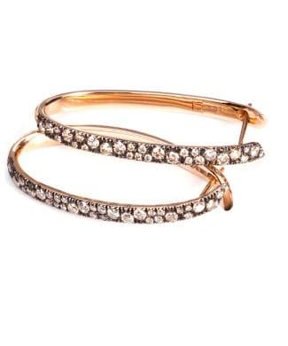 Orecchini con diamanti brown | Gioielleria Caruso