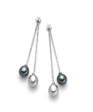 Orecchini con perle a goccia e diamanti | Gioielleria Caruso