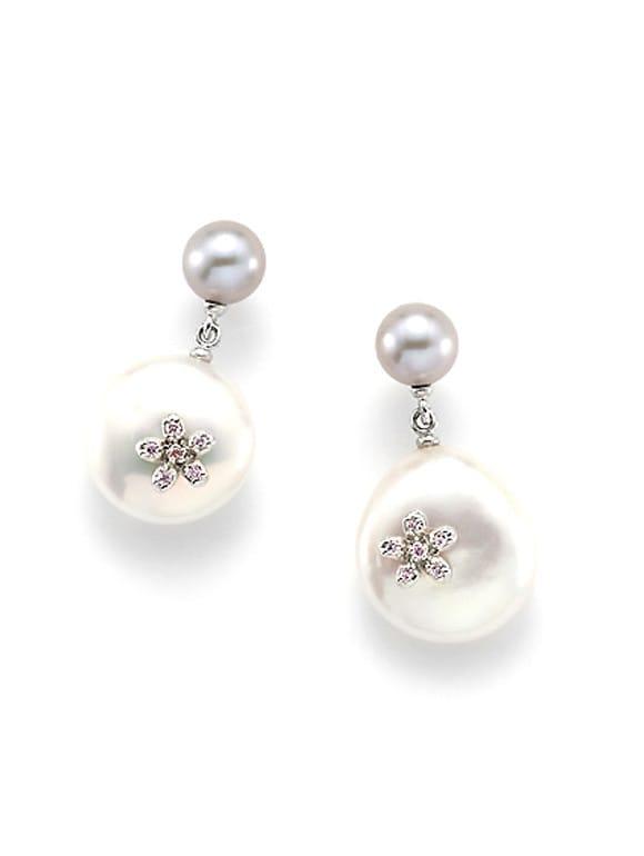 Orecchini con perle e zirconi | Gioielleria Caruso