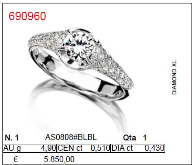 ANELLO ITITOLI DIAMOND XL PAVÈ  | Gioielleria Caruso