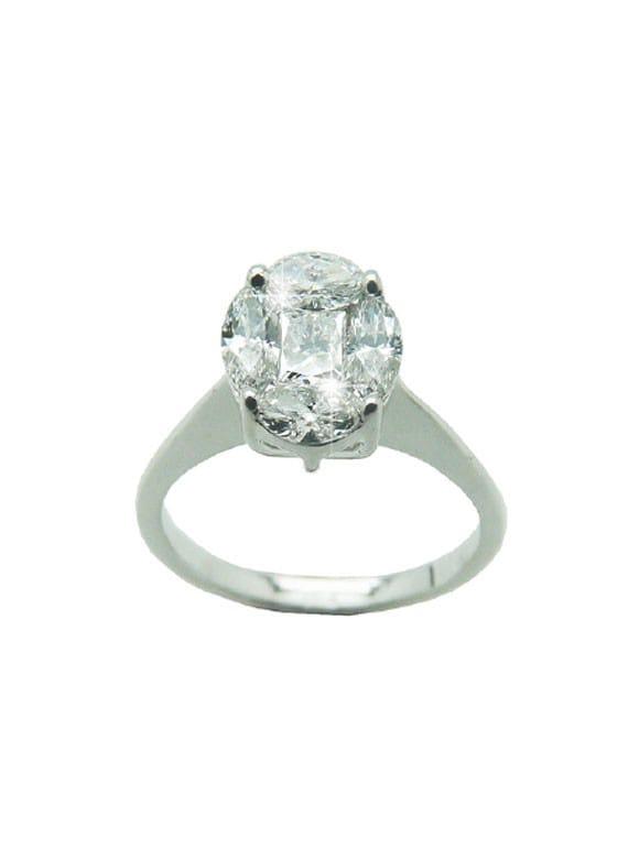 Anello con diamanti taglio navette | Gioielli Caruso