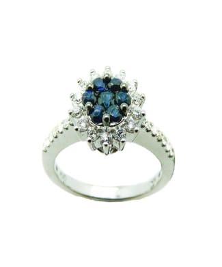 Anello con zaffiri e diamanti | Gioielli Caruso