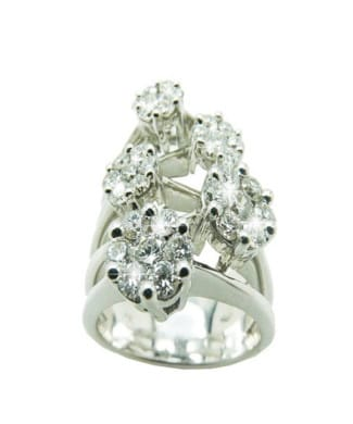 Anello tennis con diamanti | Gioielli Caruso