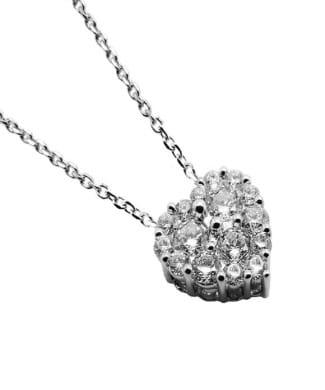 Collana con cuore e diamanti | Gioielli Caruso
