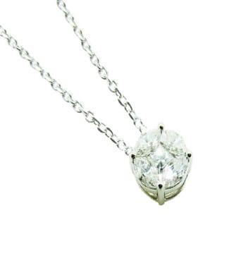 Collana con diamanti taglio navette | Gioielli Caruso