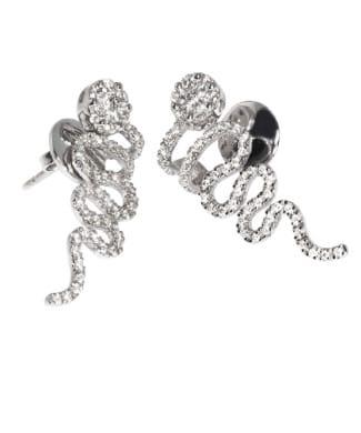 Orecchini a serpente con diamanti | Gioielli Caruso