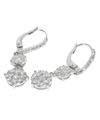 Orecchini fani gioielli con diamanti | Gioielli Caruso
