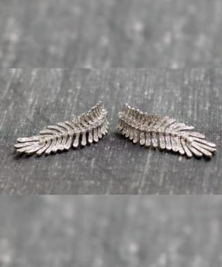 Orecchini piuma con diamanti | Gioielli Caruso