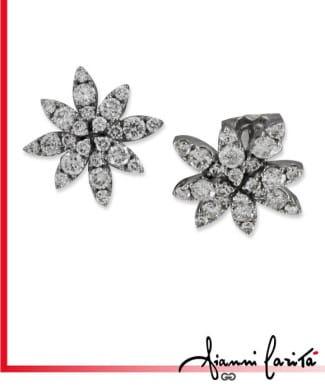 Orecchini in oro bianco con diamanti | Gioielleria Caruso Napoli