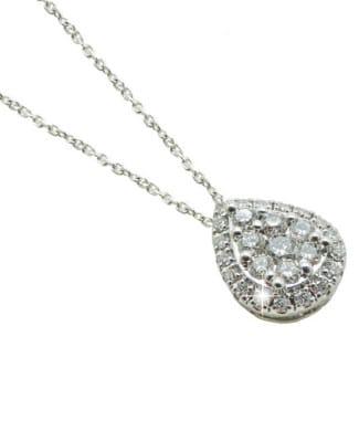 Collana con goccia e diamanti | Gioielli Caruso
