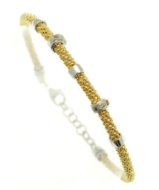 Bracciale in argento con diamanti | Gioielleria Caruso