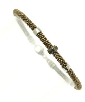 Bracciale in argento con diamanti neri | Gioielleria Caruso
