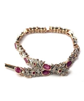 Bracciale con rubini e diamanti | Gioielleria Caruso Napoli