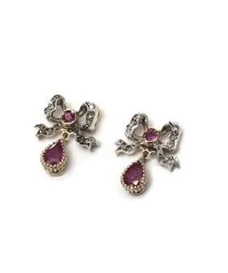 Orecchini con rubini e diamanti | Gioielleria Caruso Napoli