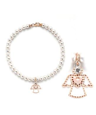 bracciale perle con angelo | Gioielleria Caruso Napoli