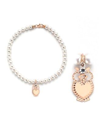 bracciale perle con gufo | Gioielleria Caruso Napoli