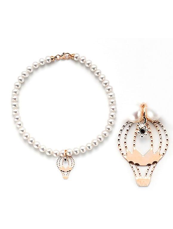 bracciale perle con mongolfiera | Gioielleria Caruso Napoli