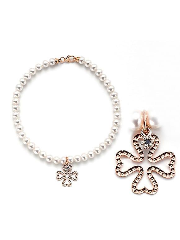 bracciale perle con quadrifoglio | Gioielleria Caruso Napoli