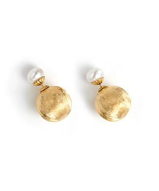 Orecchini con perle in argento giallo | Gioielleria Caruso Napoli
