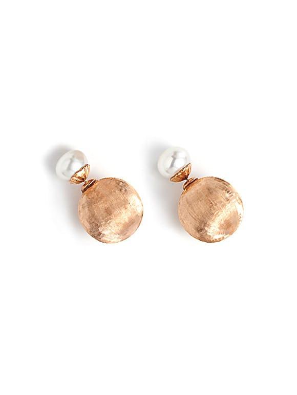 Orecchini con perle in argento rosa | Gioielleria Caruso Napoli