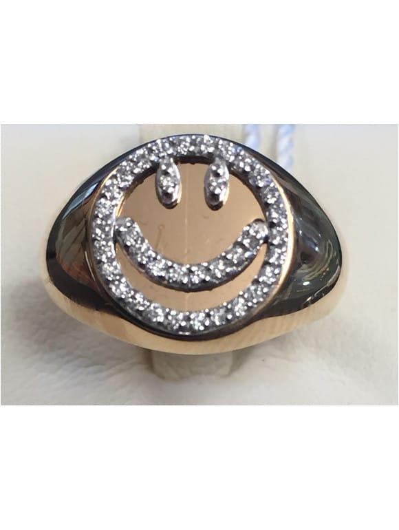 anello chevalier smile con brillanti   Gioielleria Caruso Napoli
