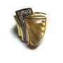 Anello in oro giallo con citrino e diamanti   Gioielleria Caruso Napoli