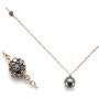 Collana con perle e diamanti neri   Gioielleria Caruso Napoli