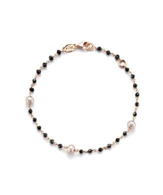 Bracciale con perle e spinello nero | Gioielleria Caruso Napoli