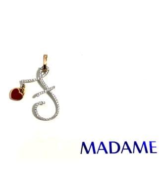 Lettera F Madame gioielli con diamanti | Gioielleria Caruso Napoli
