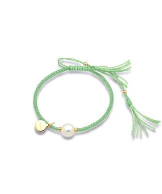 Bracciale Mikiko Hope in sagola verde | Gioielleria Caruso Napoli