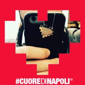 Gioiello Cuoredinapoli con catena e Hashtag