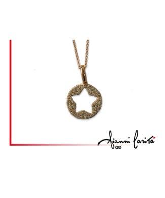 Pendente stella in oro giallo con diamanti | Gioielleria Caruso Napoli