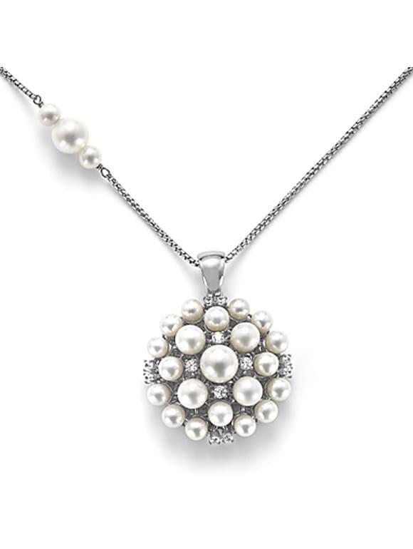 Girocollo Euforia in argento con perle e zirconi | Gioielleria Caruso Napoli