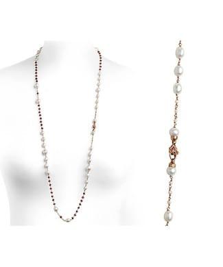 Girocollo chanel con perle e granati | Gioielleria Caruso Napoli