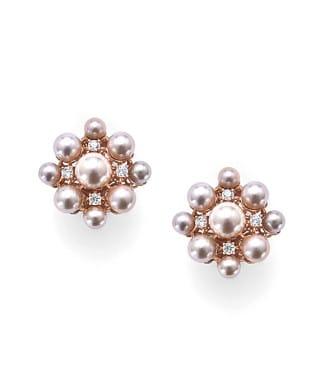 Orecchini Euforia in argento con perle e zirconi | Gioielleria Caruso Napoli