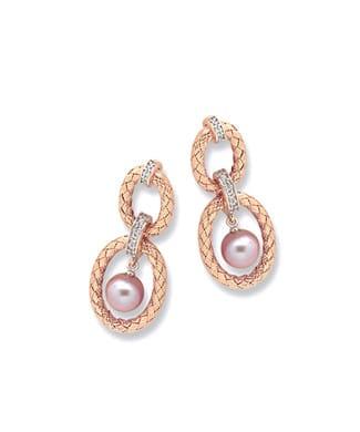 Orecchini con perle e zirconi | Gioielleria Caruso Napoli