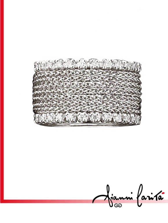 Anello Chain con diamanti | Gioielleria Caruso