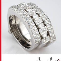 Anello Uno e Trino con diamanti | Gioielleria Caruso