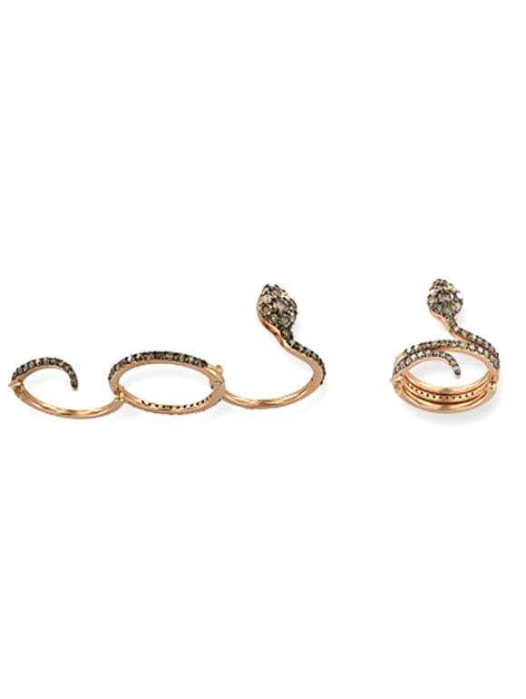 Anello a serpente con diamanti brown   Gioielleria Caruso