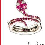 Anello a serpente con diamanti e Rubini | Gioielleria Caruso