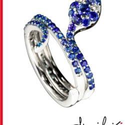 Anello a serpente con diamanti e Zaffiri | Gioielleria Caruso